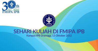 Sehari Kuliah di FMIPA IPB