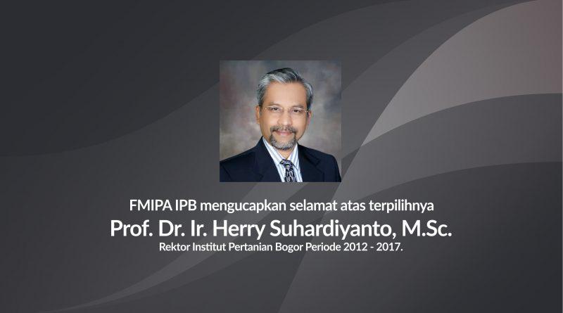 Herry Suhardiyanto Terpilih Lagi Jadi Rektor IPB