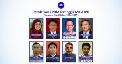 Peraih Skor EPBM Tertinggi FMIPA IPB Semester Ganjil 2016/2017