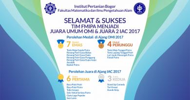 Prestasi FMIPA IPB di Ajang OMI & IAC 2017