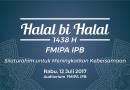Halal bi Halal FMIPA: Silaturahim untuk Meningkatkan Kebersamaan