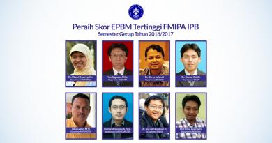 Peraih Skor EPBM Tertinggi FMIPA IPB Semester Genap 2016/2017