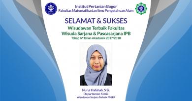Wisudawan Terbaik Fakultas Wisuda Tahap IV Tahun Akademik 2017/2018