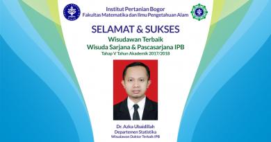 Wisudawan Terbaik IPB Wisuda Tahap V Tahun Akademik 2017/2018