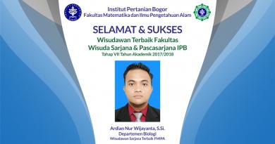Wisudawan Terbaik Fakultas Wisuda Tahap VII Tahun Akademik 2017/2018