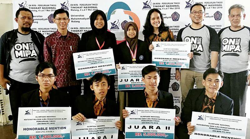 Prestasi Mahasiswa FMIPA IPB di ON MIPA 2018