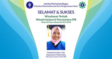 Wisudawan Terbaik IPB Wisuda Tahap VIII Tahun Akademik 2017/2018