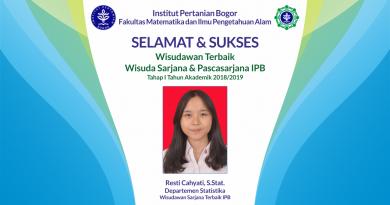 Wisudawan Terbaik IPB Wisuda Tahap I Tahun Akademik 2018/2019