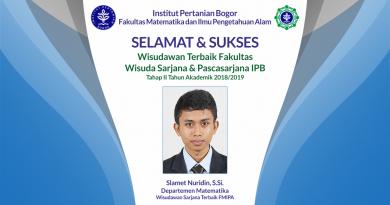 Wisudawan Terbaik Fakultas Wisuda Tahap II Tahun Akademik 2018/2019