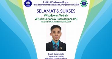 Wisudawan Terbaik IPB Wisuda Tahap VI Tahun Akademik 2018/2019