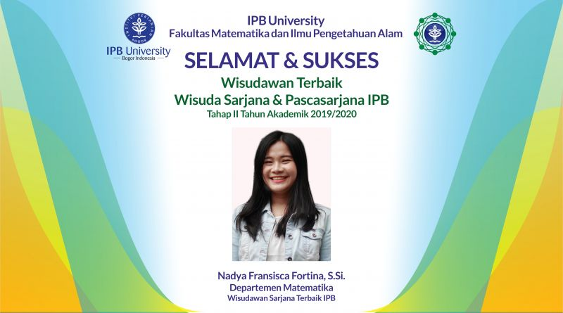 Wisudawan Terbaik IPB Wisuda Tahap II Tahun Akademik 2019/2020
