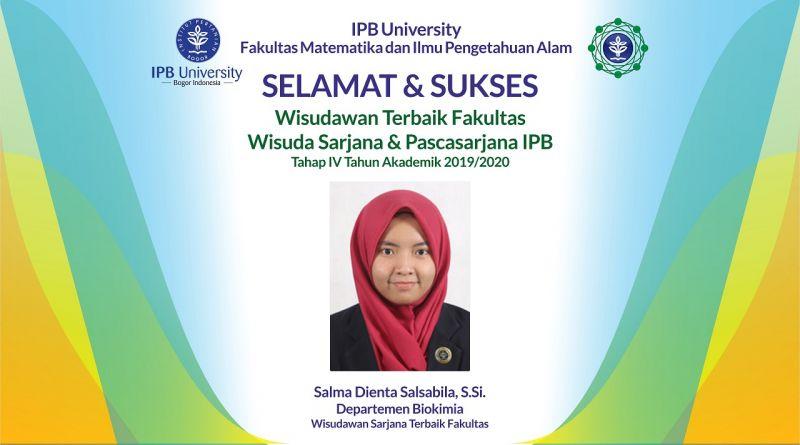 Wisudawan Terbaik IPB Wisuda Tahap IV Tahun Akademik 2019/2020