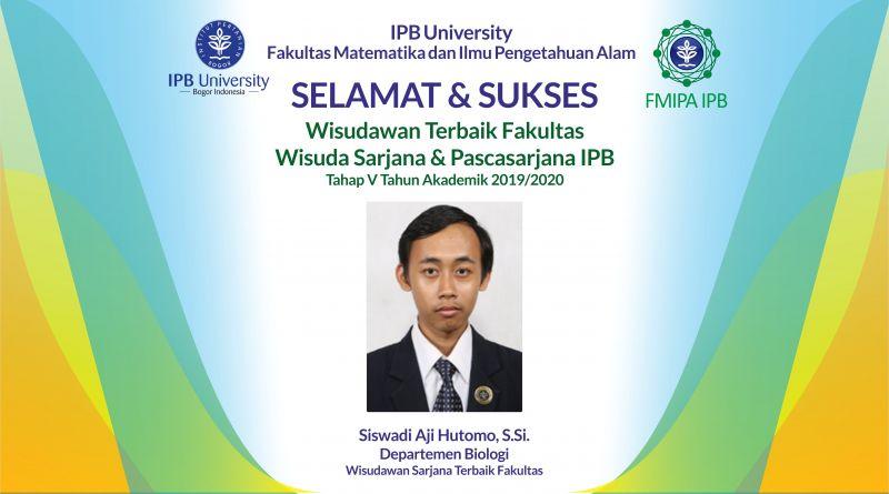 Wisudawan Terbaik IPB Wisuda Tahap V Tahun Akademik 2019/2020