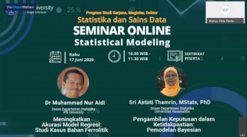 Mengkaji Statistical Modeling Daring Bersama Dosen IPB University dan Dosen Universitas Hasanuddin