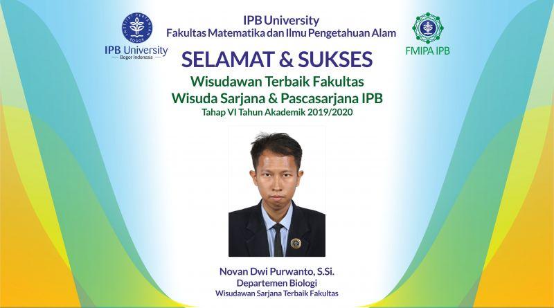Wisudawan Terbaik IPB Wisuda Tahap VI Tahun Akademik 2019/2020
