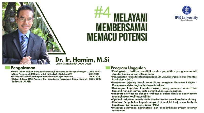 Program – Program Bakal Calon Dekan (BCD) FMIPA 2020- 2025 No Urut 4