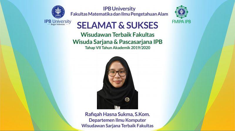 Wisudawan Terbaik IPB Wisuda Tahap VII Tahun Akademik 2019/2020