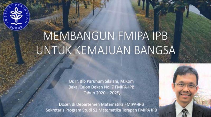 Program – Program Bakal Calon Dekan (BCD) FMIPA 2020- 2025 No Urut 7