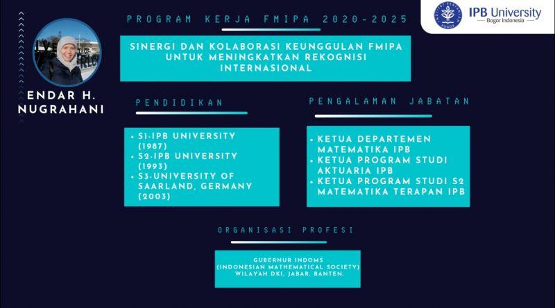Program – Program Bakal Calon Dekan (BCD) FMIPA 2020- 2025 No Urut 3