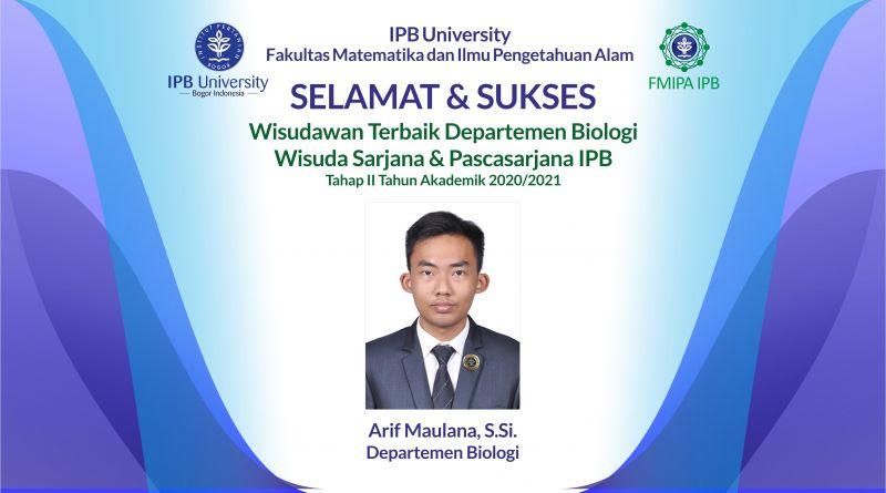 Wisudawan Terbaik IPB Wisuda Tahap II Tahun Akademik 2020/2021