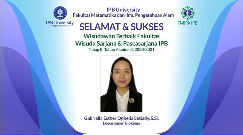 Wisudawan Terbaik IPB Wisuda Tahap III Tahun Akademik 2020/2021