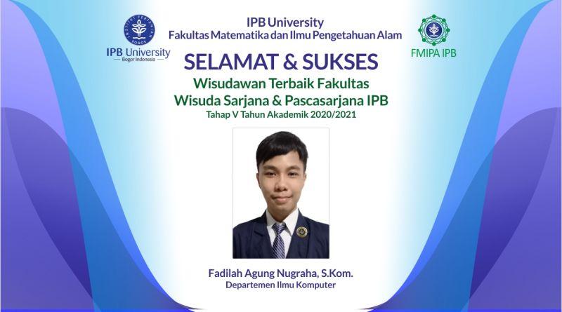 Wisudawan Terbaik IPB Wisuda Tahap V Tahun Akademik 2020/2021