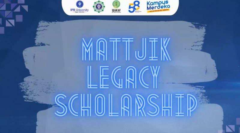 Launching Mattjik Legacy Scholarship, Upaya FMIPA IPB Wujudkan Dana Abadi Pendidikan