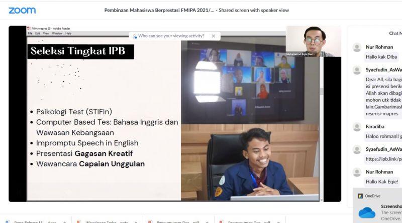 Launching Program Pembinaan, FMIPA Siap Menang Pemilihan Mahasiswa Berprestasi